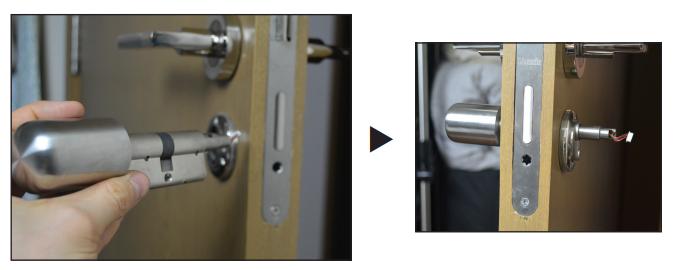 NFC Schließzylinder einbau 3
