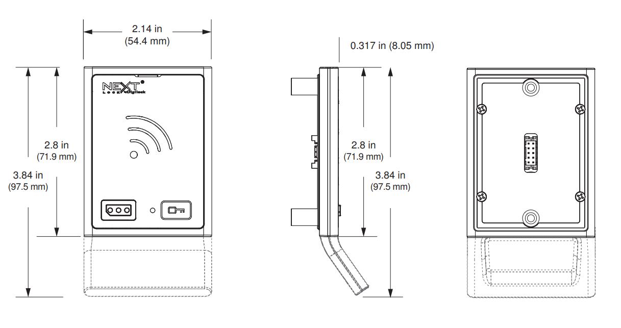 NFC Möbelschloss Skizze